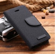 Wallet Case Black zu iPhone 5/5S/SE