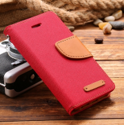 Wallet Case Rot zu iPhone 5/5S/SE
