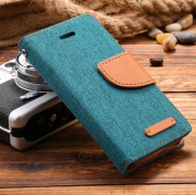 Wallet Case Grün zu iPhone 5/5S/SE