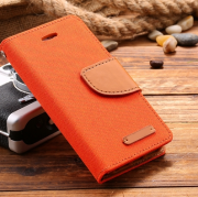 Wallet Case Orange zu iPhone 5/5S/SE