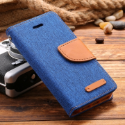 Wallet Case Blau zu iPhone 5/5S/SE